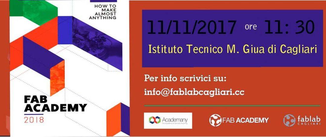 Fab Academy 2018: aperte le iscrizioni a Cagliari